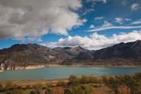 Spain, Embalse de los Barrios de Luna Reservoir by Walter Bibikow - various sizes