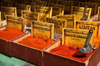 Spain, Granada Spices for sale at an outdoor market in Granada by Julie Eggers - various sizes