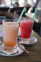 Spain, Madrid Fresh granita served in a sidewalk caf? by Julie Eggers - various sizes
