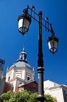 Spain, Madrid Lamppost and the dome of the Las Calatravas Church by Julie Eggers - various sizes - $45.99