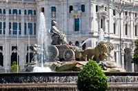 Spain, Madrid Plaza de Cibeles with Fuente de Cibele by Julie Eggers - various sizes, FulcrumGallery.com brand