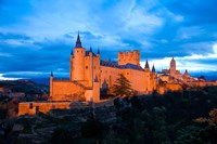 Spain, Segovia Alcazar Castle at Sunset Fine Art Print