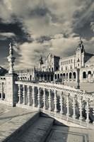 Spain, Seville, buildings of the Plaza Espana Framed Print