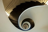 Spiral staircase, Silken Gran Hotel Domine, Bilbao, Spain Fine Art Print