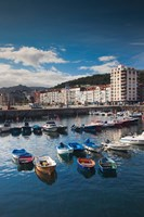 Town And Harbor View, Castro-Urdiales, Spain by Walter Bibikow - various sizes, FulcrumGallery.com brand