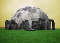 Full Moon over Stonehenge, England by Bill Bachmann - various sizes
