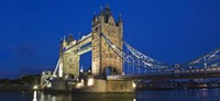 UK, London, Tower Bridge and River Thames Fine Art Print
