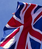 British Flag, England Fine Art Print