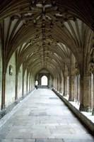 England, Kent, Canterbury Cathedral window Fine Art Print