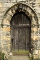 Medieval City Wall Door, York, Yorkshire, England Fine Art Print