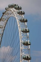 England, London, London Eye, Amuseument Park Fine Art Print