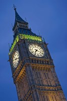 UK, London, Clock Tower, Big Ben at dusk Fine Art Print