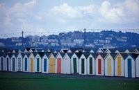 Beach Huts of Paignton, Devon, England Fine Art Print