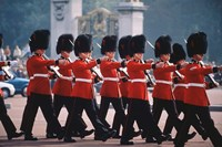 Changing of the guards, London, England Fine Art Print