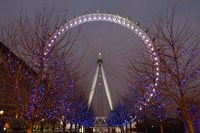 England, London, London Eye Amusement Park Fine Art Print