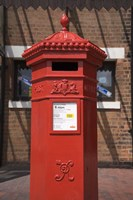 GR Post Box, Gloucester, Gloucestershire, England Fine Art Print