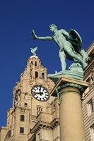 Liver Building and Statue, Liverpool, Merseyside, England by Paul Thompson - various sizes