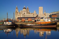 Liver Building and Tug Boats from Albert Dock, Liverpool, Merseyside, England by Paul Thompson - various sizes