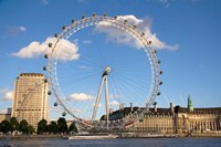 London Eye, Amusement Park, London, England Fine Art Print