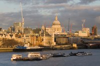 North Bank of The Thames River, London, England by Walter Bibikow - various sizes