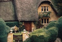 Thatched Roof Home and Garden, Chipping Campden, England, by Walter Bibikow - various sizes