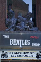 The Beatles Shop, Mathew Street, Liverpool, England Fine Art Print