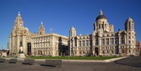 Liver, Cunard, and Port of Liverpool Buildings, Liverpool, Merseyside, England by Paul Thompson - various sizes