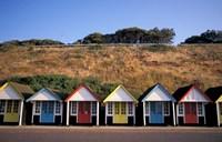 Beach Huts at Bournemouth, Dorset, England by Nik Wheeler - various sizes