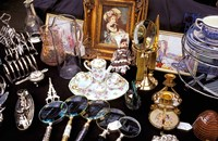 Antiques For Sale, Apple Market, Covent Garden, London, England by Inger Hogstrom - various sizes