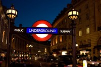 England, London Subway, Tube Entrance Fine Art Print