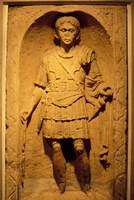 Tombstone of Roman Centurion, Colchester Museum, Essex, England Fine Art Print