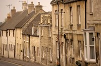 High Street Buildings, Cotswold Village, Gloucestershire, England by Walter Bibikow - various sizes, FulcrumGallery.com brand