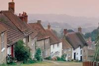 Town Architecture, Shaftesbury, Gold Hill, Dorset, England Fine Art Print