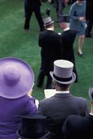 Formally dressed race patrons, Royal Ascot, England Fine Art Print