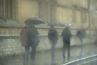 Walking in the rain, Oxford University, England by Alan Klehr - various sizes, FulcrumGallery.com brand