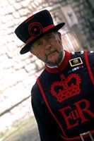 Beefeater at the Tower of London, London, England Fine Art Print