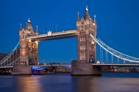 Tower Bridge and River Thames, London, England Fine Art Print