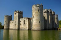 Bodiam Castle (1385), reflected in moat, East Sussex, England by David Wall - various sizes