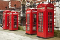 Phone boxes, Royal Courts of Justice, London, England by David Wall - various sizes