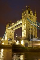 Tower Bridge and River Thames at dusk, London, England, United Kingdom Fine Art Print