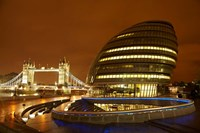 Tower Bridge, City Hall, London, England by David Wall - various sizes, FulcrumGallery.com brand