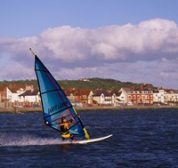 Marine Lake Windsurfer, Wirral, Merseyside, England by Paul Thompson - various sizes, FulcrumGallery.com brand
