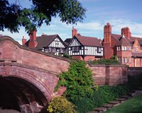 The Dell, Port Sunlight Village, Wirral, Merseyside, England Fine Art Print