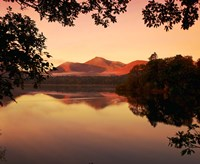 Derwent Water in The Lake District, Cumbria, England Fine Art Print