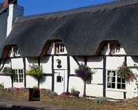Thatched Cottage, Warwickshire, England Fine Art Print