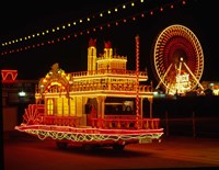 Show Boat and Blackpool Illuminations, Lancashire, England Fine Art Print