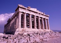 The Parthenon on the Acropolis, Ancient Greek Architecture, Athens, Greece Fine Art Print