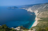 Coastline View, Assos, Kefalonia, Ionian Islands, Greece Fine Art Print