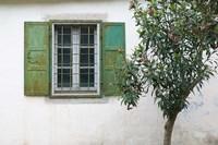 Courtyard Detail, Limonos Monastery, Filia, Lesvos, Mithymna, Aegean Islands, Greece by Walter Bibikow - various sizes - $36.99