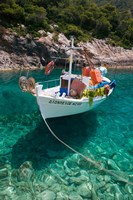 Greece, Ionian Islands, Zakynthos, Fishing Boat Fine Art Print
